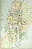 ansient историческая карта Палестина Израиля Стоковое Изображение RF