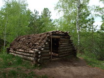Ansient Hut. Very old settlement. Russia. Omsk stock photography