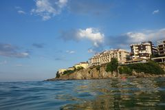 Amazing views of Sozopol. Ansient town of Sozopol stock photo