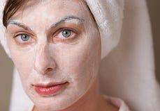 ansikts- brunnsort Fotografering för Bildbyråer