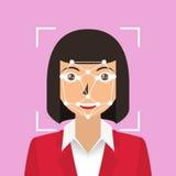 Ansikts- erkännande biometric ID Royaltyfria Foton