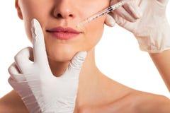 Ansikts- injektion för kvinnor Royaltyfria Bilder