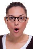 ansikts- kvinnligshock för uttryck Arkivfoto