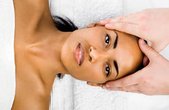 Ansikts- massage arkivfoto