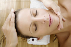 ansikts- massage Royaltyfria Foton