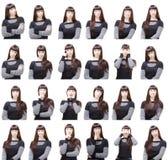 ansikts- olika uttryck royaltyfria bilder