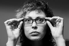 ansikts- rolig flickamaskering Fotografering för Bildbyråer