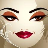 Ansikts- sinnesrörelser av en ung nätt kvinna med en modern frisyr C vektor illustrationer