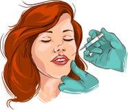 Ansikts- skrynklabehandling Fotografering för Bildbyråer