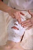 ansikts- terapi Fotografering för Bildbyråer