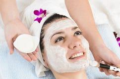 Ansikts- vit maskering royaltyfri fotografi