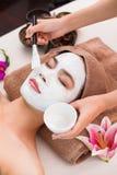 Ansiktsbehandlingen maskerar Royaltyfria Bilder