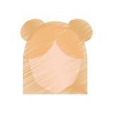 ansiktslös frisyr för teckningskvinnlig elevrepresentant stock illustrationer