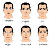 Ansiktsuttryck vektor illustrationer