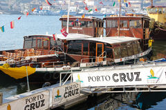 Anslöt kryssningfartyg. Porto. Portugal arkivfoto