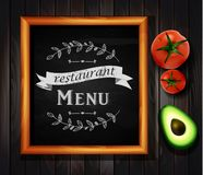 Anslagstavla för meny för restaurang för restaurangmenybräde Arkivbild