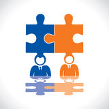 Anslutning av två affärsmän vektor illustrationer