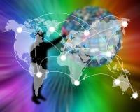 Anslutning av världen Arkivbild