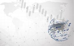 Anslutning för det globala nätverket automatiserade servicehjälp och nätverksdesignbegrepp med Wireframe vektor illustrationer