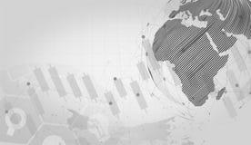Anslutning för det globala nätverket automatiserade servicehjälp och nätverksdesignbegrepp med Wireframe royaltyfri illustrationer
