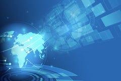 Anslutning för globalt nätverk Världskartapunkt och linje sammansättning royaltyfri illustrationer