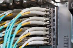 Anslutning för optisk fiber för molnSAN-lagring Royaltyfri Fotografi