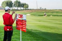 Anslutning för yrkesmässig golf för damer Arkivfoto