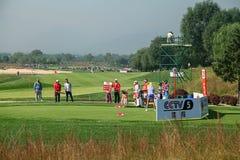 Anslutning för yrkesmässig golf för damer Royaltyfri Fotografi