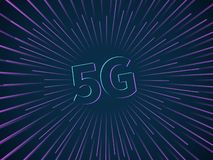 anslutning 5g Det tr royaltyfri illustrationer