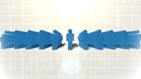 anslutning isolerat samkväm för nätverk 3d arkivfilmer