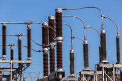 Anslutningar för elektricitetstransformator royaltyfri foto