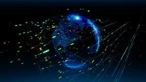 Anslutningar för globalt nätverk Du kan använda det för en teknologi, en kommunikation eller en samkvämmassmediabakgrund arkivfilmer