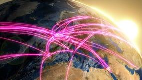 Anslutningar för internationellt nätverk Ruttar från Europa