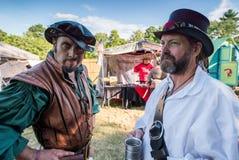 ANSONIA, CT - 2 JULE 2016 - de Renaissance Faire van de Midzomerfantasie stock foto's