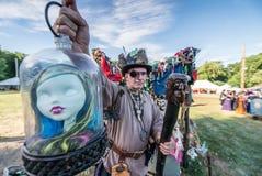 ANSONIA, CT - 2 JULE 2016 - rinascita Faire di fantasia di metà dell'estate fotografia stock libera da diritti