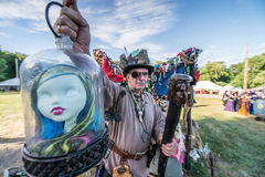 ANSONIA, CT pełni lata fantazi renesans Faire - 2 JULE 2016 - zdjęcie royalty free
