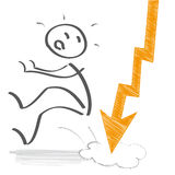 Anställd får in i problem vektor illustrationer