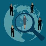 Anställd rekrytering, människa, resurs, val, intervju, analys, apps Arkivbild