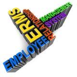Anställdförhållandeadministration stock illustrationer