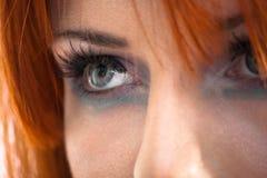 Anstarrende Augen Stockfotos