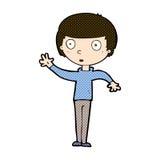 anstarrender Junge der komischen Karikatur Lizenzfreie Stockbilder