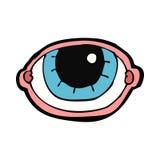 anstarrendes Auge der Karikatur Stockfotografie