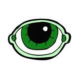 anstarrendes Auge der komischen Karikatur Lizenzfreie Stockfotos