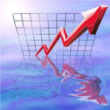 Ansteigende Profite Stockfoto