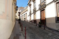 Ansteigendes Straße La Orotava Lizenzfreies Stockbild
