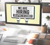 Anstellendes Grafikdesigner-Creative Sketch Visual-Konzept Lizenzfreie Stockfotografie