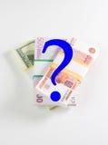 Anstieg- und Fallgeldkinetik Stockfotos