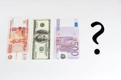 Anstieg- und Fallgeldkinetik Stockbilder