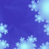 Anstract Background or Wallpaper of Fluffy White Snowflakes or Clouds stock image