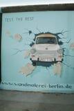 Anstrich auf der Berliner Mauer Lizenzfreies Stockfoto